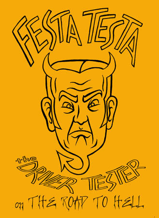 book cover - Festa Testa the Driver Tester on the Road to Hell