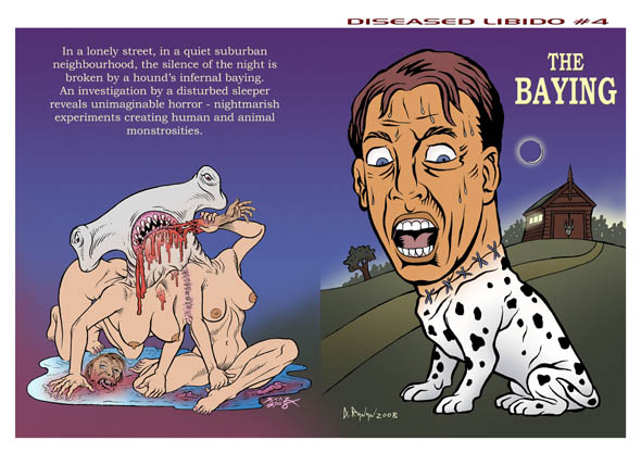 book cover - Diseased Libido #4 - The Baying