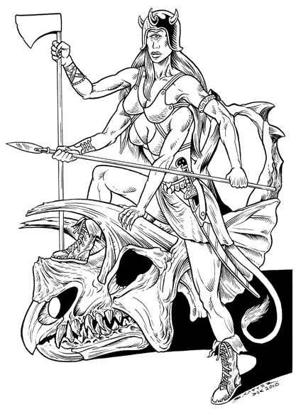 Zargal, a Hongol Warrior from Amazons of the Cyclops Moon