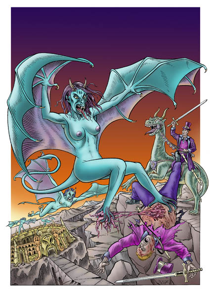 Hellish Harpy Attack - Cover to Gorgasm in Living Dead Colour #1
