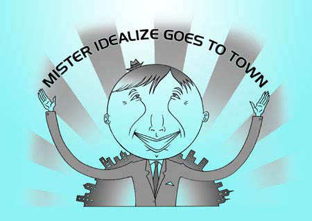 book cover - Mister Idealize Goes to Town #1