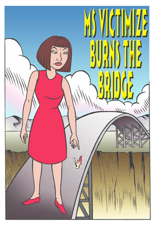 book cover - Ms Victimize Burns the Bridge