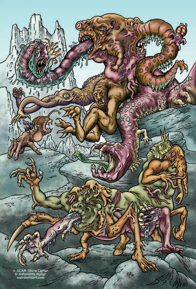 Monsters of Morphing Mutation by SCAR for The Thing Artbook